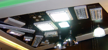 comercial light showroom,